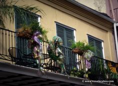A balcony in New Orleans.