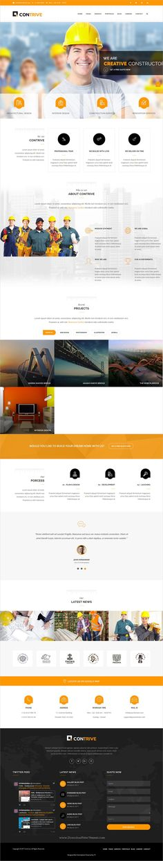 Contrive is clean and modern design responsive #Joomla template for #webdesign #construction and building service website with 11 unique homepage layouts download now➩ https://themeforest.net/item/contrive-building-construction-business-joomla-theme/19770561?ref=Datasata