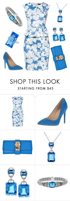 """""""Hosting Luncheon"""" by nmccullough ❤ liked on Polyvore featuring ZALORA, Ivanka Trump, Hermès, Effy Jewelry, Lagos and Oscar Heyman"""