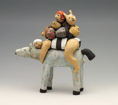 Ride Easter Show, Clay Figures, Donkeys, Clay Crafts, Figurative Art, My Images, Pots, Art Ideas, Art Pieces