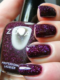 Zoya Peyton.  The most sparkley beautiful purple in the world.  Get this color from Zoya if you plan on buying any.  You will not regret it!