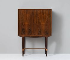 Danish Rosewood Dry Bar by Illum Wikkelso | From a unique collection of antique and modern dry bars at https://www.1stdibs.com/furniture/storage-case-pieces/dry-bars/