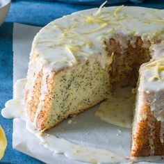 Whip up a light and airy meringue for the base of this tender Lemon Poppy Seed Chiffon Cake. #BestEverHolidays