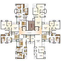 Duplex House Plans, House Layout Plans, Apartment Floor Plans, Floor Plan Layout, Architecture Blueprints, Modern Architecture Design, Architecture Plan, Building Plan Drawing, Floor Plan Drawing