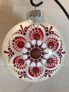 Hand painted Dot Mandala Christmas ornament | Etsy Christmas Mandala, Christmas Bulbs, Painted Christmas Ornaments, Glitter Ornaments, Holiday Ornaments, Holiday Decor, Christmas Diy, Christmas Decorations, Dots