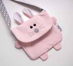 Sewing Toys, Baby Sewing, Sewing Makeup Bag, Diy Sac, Animal Bag, Diy Bags Purses, Tote Pattern, Girls Bags, Sewing Projects For Beginners