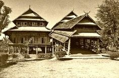 Rumah adat Nusa Tenggara Barat #arsitektur indonesia Vernacular Architecture, Good House, In The Tree, Traditional House, Asia, Island, House Styles, Places, Houses
