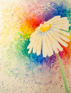 Watercolor Daisy  One of my pieces. <3