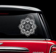 Mandala Car Decal Vinyl Sticker Decals Car Decal Sticker Window Truck Decal Stickers Lotus Flower Car Decal Welcome, You are Incredible! ღ My