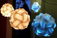 O QUE É MEU É NOSSO: Luminária IQ Light de Papel - Paper IQ Light Lamp - Designer Holger Strøm