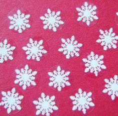 Rainbow Creations Mini Snowflake Stickers