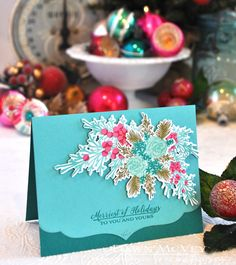 Merriest Of Holidays Card by Dawn McVey for Papertrey Ink (October 2017)