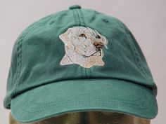 Yellow Labrador Retriever Dog Hat  One Embroidered by priceapparel