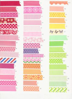 NEW PATTERNS ADDED  Washi Tape Assortment - 8 yards of your choice (24 feet). $8.50, via Etsy.