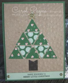 Stampin' Up!,Gold Soiree,Triangle Punch,Christmas Bliss,Decorative Dots Folder