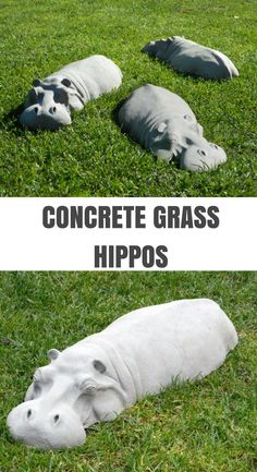 I love these concrete garden hippos. They are so fun. Children would love them. ... - #children #concrete #garden #gardendecordiy #hippos #these #would- Garden & Terrace -#decoration