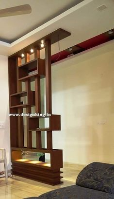 Room Partition Wall, Living Room Partition Design, Living Room Divider, Living Room Tv Unit Designs, Room Partition Designs, Living Room Decor, Partition Ideas, Wood Partition, Wooden Partition Design
