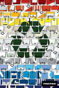 1학년 1학기 개인 _ 비쥬얼컨셉 인쇄광고 제작 (부산국제광고제 출품) / 프라이탁 _재활용된 유일한 가방 /일러스트레이터 Freitag Bag, Ad Design, Graphic Design, Retail Store Design, Instagram Story Template, Corporate Design, Cloth Bags, Handmade Bags, New Work