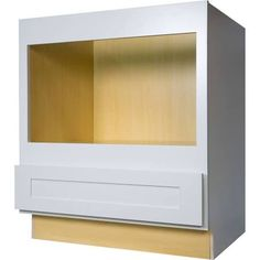 The 30 Inch Microwave Base Cabinet In Gorgeous Shaker White Provides A  Solution To Those Who Are Limited On Wall Cabinet Space. The Opening For  This Cabinet ...