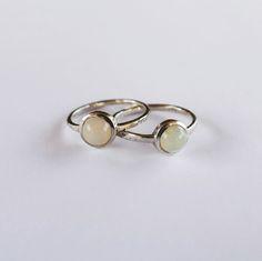 Opal Rings. #colourful #jewelrygift #gemstones #handmade #silver #ringsoftheday #jewellery