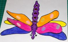 Dragonfly craft with free printable template. Crafts for kids. Alphabet Crafts, Alphabet Art, Letter A Crafts, Bug Crafts, Nature Crafts, Preschool Crafts, Dragon Fly Craft, Dragon Crafts, Fun Crafts For Kids