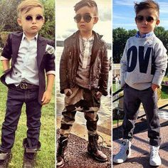 I am defiantly dressing my new baby brother Jasper in this. He will have swag! hair and fashion ideas :)