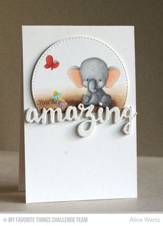 Adorable Elephants, Doubly Amazing Die-namics. Stitched Arch STAX Die-namics - Alice Wertz #mftstamps