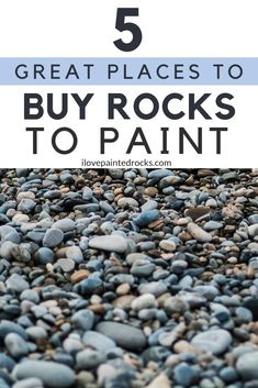 A beginners guide to painted rocks: where to find rocks to paint. Because before you can get started painting rocks, you need to know where to get rocks that you can paint! #ilovepaintedrocks #rockpainting #rockart #paintedrocks #kindnessrocks
