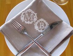 Hey, I found this really awesome Etsy listing at https://www.etsy.com/listing/163199540/monogrammed-embroidered-table-napkins