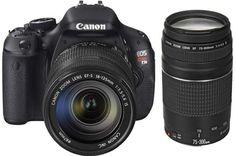 Canon EOS Rebel T3i Camera + Canon 18-135mm + Canon 75-300mm III