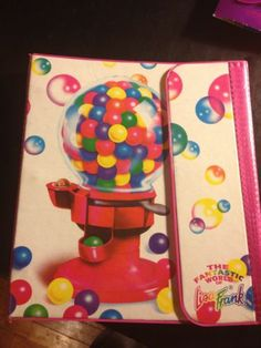 Vintage Lisa Frank Bubble Gum Machine Trapper Keeper with Stationary and More | eBay
