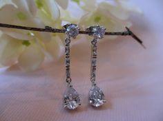 Posted Teardrop Dangle Earring Bridal Earring by UniqueJewelry