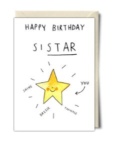 Happy birthday sistar - Card by Jelly Armchair More