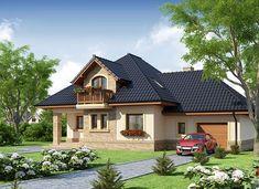 Damokles - zdjęcie 2 Modern Bungalow House, Modern House Plans, Simple House Design, Modern House Design, Homemade Wine Rack, Home Fashion, Sofa Design, Planer, Building A House