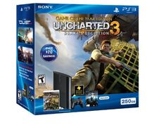 With over $70 in savings, the new PlayStation 3 250GB system and UNCHARTED 3: Drake's Deception Game of the Year Edition bundle, showcase the intensity and realism of the best console for gamers.  UNCHARTED 3: Drake's Deception Game of the Year Edition is Nathan Drake's latest adventure that propels the fortune hunter on a trek into the heart of the Arabian Desert and includes over $45 of Bonus Content! DUST 514, a free to play game available exclusively