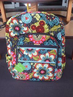 •••Vera Bradley Disney Mickey's Perfect Petals Backpack Flower Shower Bookbag••• #VeraBradley #BackpackStyle