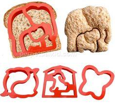 Make animal shaped sandwiches. So cute