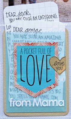 jen boumis; journaling to kids tucked into pocket