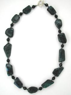 spectrolite gemstone necklace