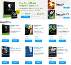 Find special offers, value added buys, and deep discounts for Corel software here