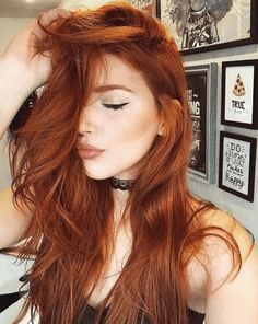 How To Give Your Hair A Beautiful Stunning Look Red Hair red orange hair Henna Hair Color, Red Hair Color, Brown Hair Colors, Ginger Hair Color, Color Red, Hair A, New Hair, Curly Hair, Glam Hair