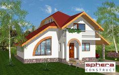 proiecte de case cu semineu House plans with fireplaces 11 Luxury House Plans, Dream House Plans, Blue Ceilings, Glass Brick, Design Case, Second Floor, Home Accents, Accent Decor, Decor Styles