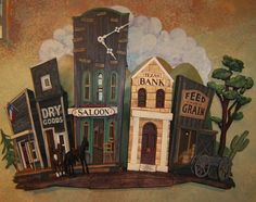 cardboard western town - Google Search