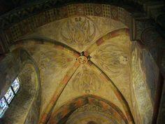 File:Chapelle des templiers - peintures plafondCeiling paintings in the Templars' chapel in Metz, France.JPG