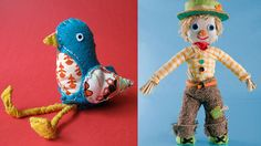 Handmade characters made by Fred & Eric's Creative Director, Maggie Rogers. http://www.maggierogers.co.uk/design-and-direction/the-scraggitty-scarecrow/