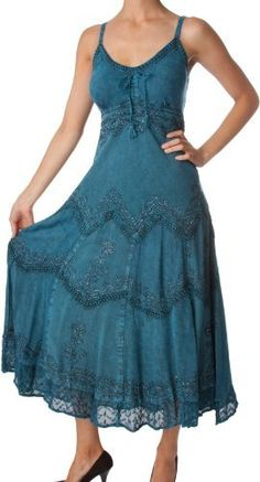 AA4012 - Stonewashed Rayon Embroidered Adjustable Spaghetti Straps Long Dress ( Various Colors & Sizes ) - Steel Blue/L/XL Sakkas,http://www.amazon.com/dp/B007SOMDY2/ref=cm_sw_r_pi_dp_61yJrb028B4ZQ2J5
