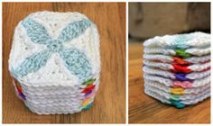 "3 1/2"" Quilt Inspired Crochet Square - mamacheemamachee"