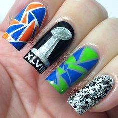 superbowl by jamylyn_nails #nail #nails #nailart