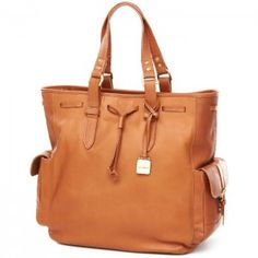 Clava Leather Drawstring Tote