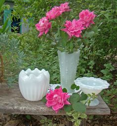Milk Glass Wedding Vases, Wedding Decor, Wedding Table Setting, Vintage Wedding Decor, Shabby Chic, Milk Glass Vase Collection
